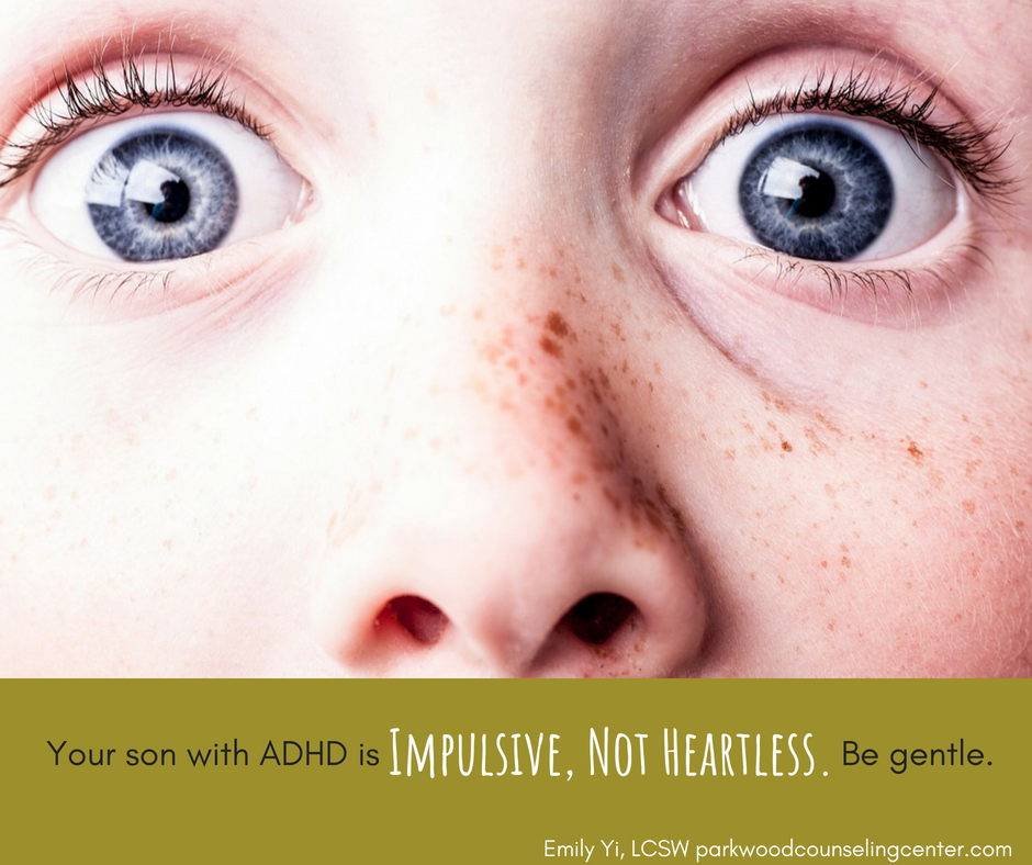 Son with ADHD in Counseling